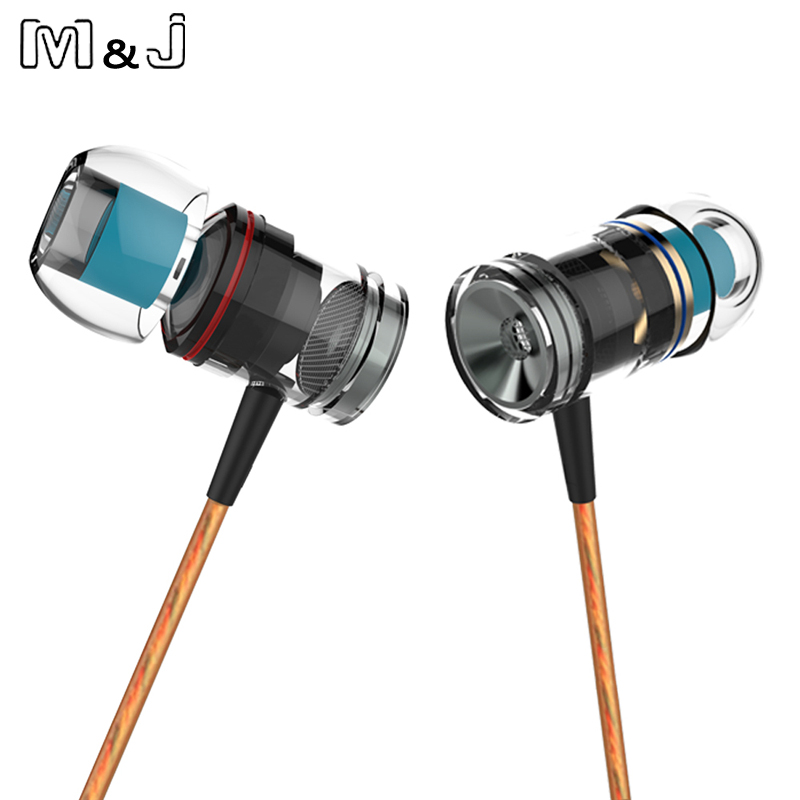 M&J M53 Magnetic Metal Earphone High Quality Stereo Earphones fone de ouvido Wired Music Earphone For Phone With Microphone ggmm alauda earphones with microphone in ear metal earphones music headets wired earphone hands free sports earphone for phone