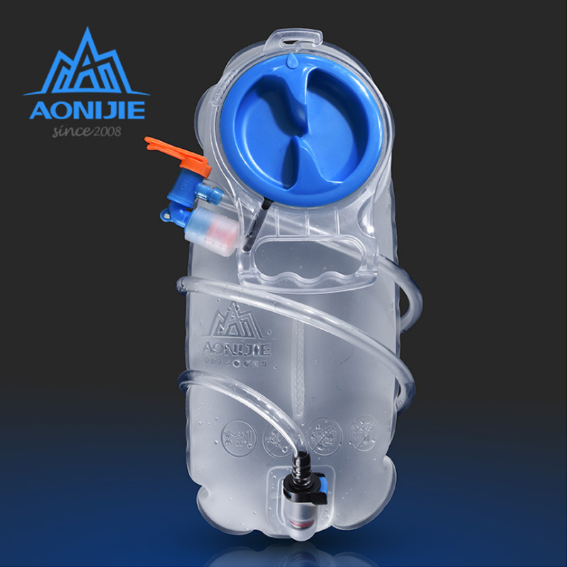 AONIJIE 2.5L 1.5L Cycling Hydration Water Bag Outdoor Sport Mouth Water Bladder Bag Camping Hiking Climbing Running Equipment aonijie outdoor water bag 1 5l 2l 3l for camping hiking climbing cycling running foldable peva sport hydration bladder