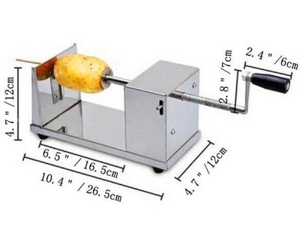 2014 NEW manual twist potato cutter Potato Spiral Slicer potato machine  цены