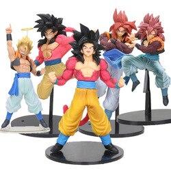 20-22cm anime dragon ball gt super saiyan filho goku vegeta gogeta ssj4 kamehameha pv dragonball figura modelo brinquedos