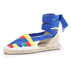Image 4 - Shoes Woman Sandals Women Tienda Soludos Womens Eternity Flat Espadrilles, Canvas Casual Slip On Shoe With Elastic Band