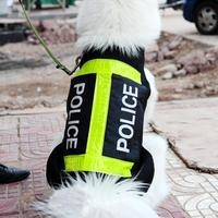 1PC Creative Police Dog Vest Clothes For Dogs Small Pet Clothes Harness Shirt Pet Products New Year Decoration 2017 S3