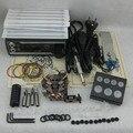 Kit completo Tattoo Set Arma Del Tatuaje fuente de Alimentación Apretón de La Aguja Consejo Combo Kit Set Supply TKS102 #
