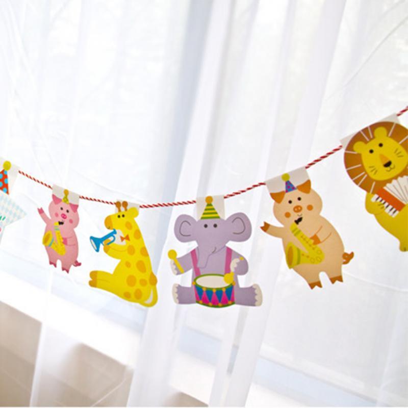 buy 2m cartoon animal birthday decor banner kids big happy family baby shower. Black Bedroom Furniture Sets. Home Design Ideas