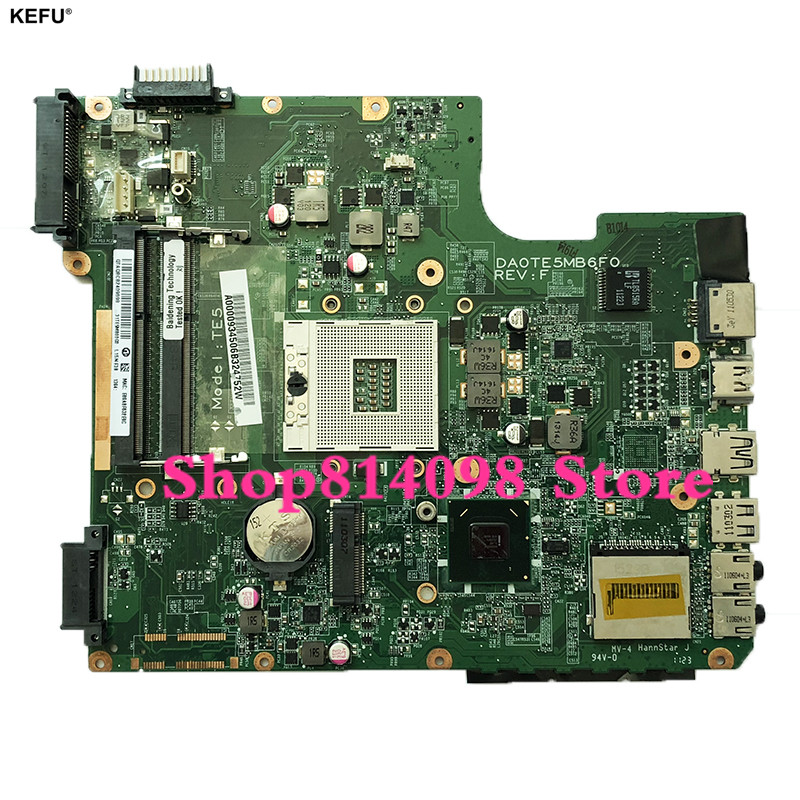 KEFU For Toshiba L740 L745 Laptop Motherboard A000093450 DA0TE5MB6F0 HM65 DDR3 MainBoard 100% Tested Fast Ship