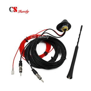Image 1 - DC 12V DVB DAB FM AM antenna,12V Amplified Booster Car TV Digitale E AM/FM Radio Box Antenna