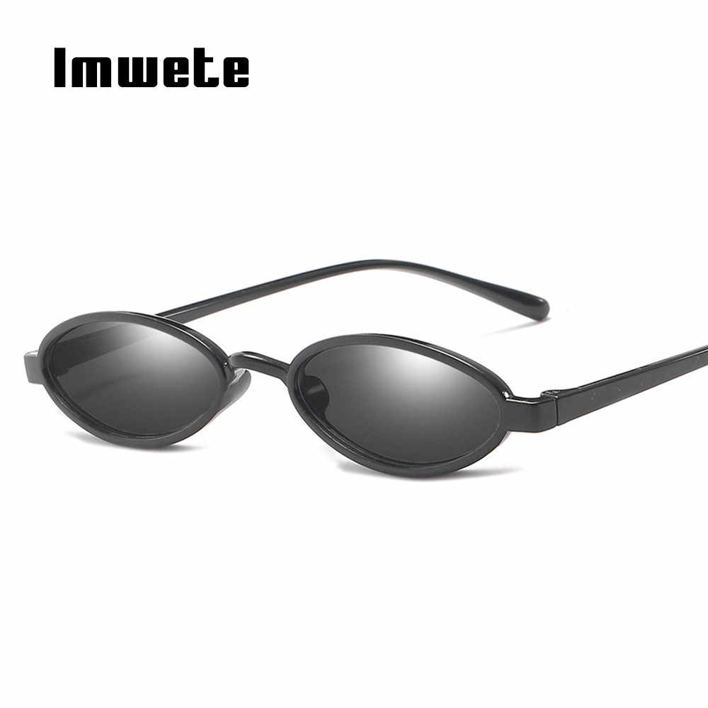 fe7606a27191 Imwete Retro Small Sunglasses Women Brand Designer Cat Eye Sun Glasses  Retro Tiny Oval Sunglasses Ladies