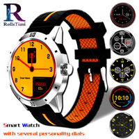 RollsTimi New Sports Smart Clock Heart Rate Monitor Casual Fashion Sleep Tracker Bluetooth Smart Watches Men Support Phone Call