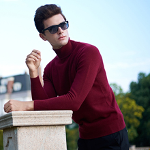 2017 New Winter Thick Warm Sweater Men Turtleneck Brand Mens Sweaters Slim Fit Pullover Men Knitwear Double collar