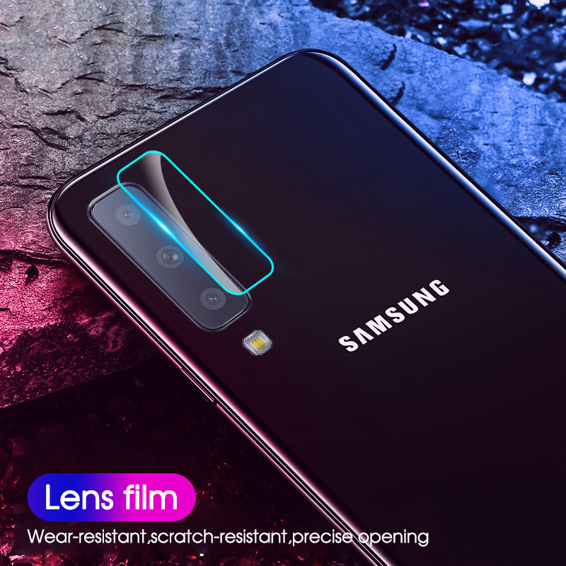 Tempered Protective Camera Glass For Samsung Galaxy A50 A7 A750 2018 S8 S9 S10 Plus A70 A50 Camera Screen Protector|Phone Screen Protectors| - AliExpress