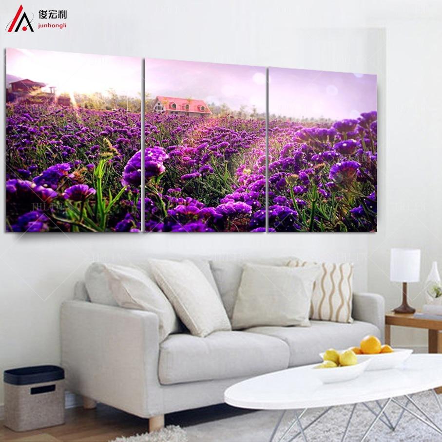 Lavender Living Room Aliexpresscom Buy Provence Lavender Canvas Pictures For Living