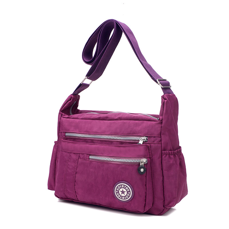 10 colors Nylon material Women shoulder crossbody bag travel bag