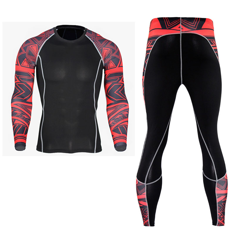 Men Pro Conpress Fitness Winter Thermal Underwear Set Quick Dry Gymming Male Spring Autumn Sporting Runs Yogaing Long Johns 2029 Running Sets