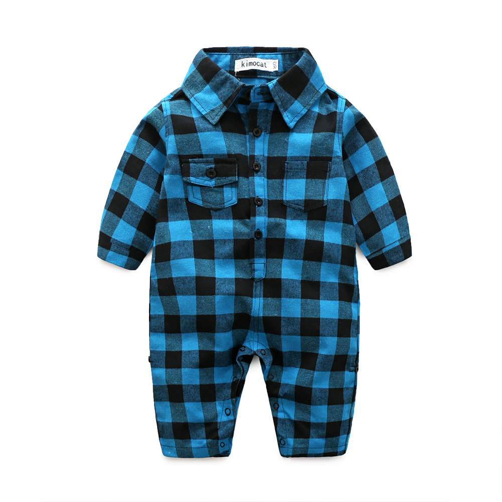 Plaid-bebes-clothes-baby-clothes-long-sleeve-lapel-baby-romper-newborn-cotton-baby-costume-baby-boys-newborn-clothes-1