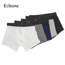 Mens Panties Cotton boxer 3pcs 5pcs/lot Male Underwear Breathable Man Solid Underpants Comfortable Brand Shorts