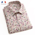 LANGMENG 2016 Hot Sale Fashion Floral Print Slim Fit Shirts Mens Short Sleeve Dress Shirts Casual camisa masculina 8 Colors