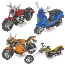 498 шт мини строительные блоки модель мотоцикла diy игрушки