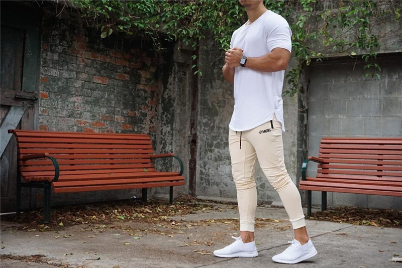 HTB1CuuhahD1gK0jSZFyq6AiOVXai Fashion Mens Joggers Pants Skinny Casual Trousers Pants Top Quality Men Sweatpants