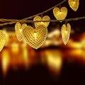 30 светодиодных солнечных сказочных огней с сердечками  гирлянда для свадьбы  рождественской вечеринки  декоративная уличная водонепроница...
