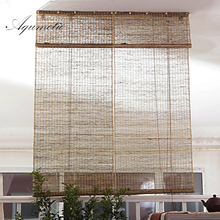ФОТО aqumotic vintage screen for the room divider wall long natural retro curtain ramie room split light decorative partition wall