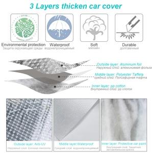 Image 2 - Buildremen2 Thick Car Cover 3 Layer Aluminum Foil + Polyester Taffeta + Cotton Waterproof Sun Rain Hail Resistant Auto Cover
