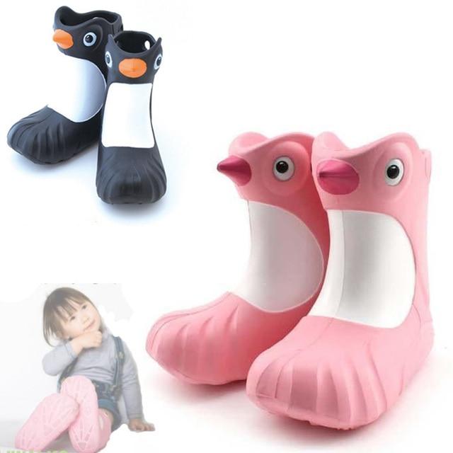 Новинка детей сапоги девушки юноши дождь сапоги милые дети мультфильм сеют обувь babys toddllers водонепроницаемые резиновая