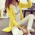 Primavera alta calidad gris mujeres de cachemira informal Poncho más tamaño suelta de manga larga para mujer vestidos de punto suéteres
