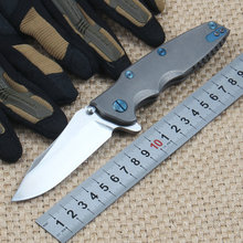 S35VN Steel Blade Titanium Alloy Handle Folding Knife Survival Camping Knives Rescue Outdoor Knife Edc Tools Dropshipping