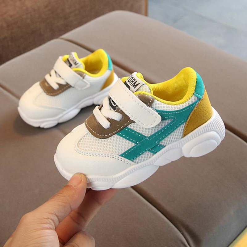 HaoChengJiaDe Children Sport Shoes Autumn Fashion Breathable Kids Boys Net Shoes Girls Anti-Slippery Sneakers Baby Toddler Shoes