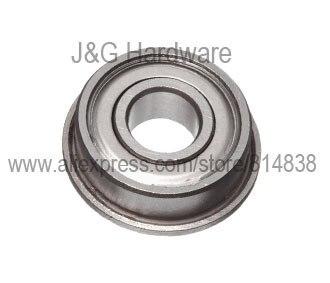 F623ZZ Flanged Bearing 3x10x4 Shielded Miniature Ball Bearings 100 pieces