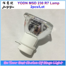 2pcs/Lot Original YODN MSD 230 R7 Stage Moving Head Beam 5R 200W 7R 230W Lamp Bulb Replacement MSDR7 230 Sharpy Lamp(China)