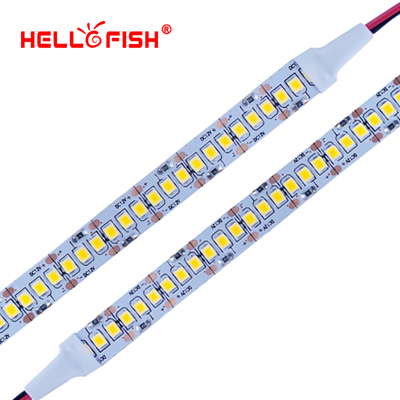2835 Fita LED SMD 1200 LED chip 12V LED Luz PCB flexível LED backlight Fita de LED Strip 240 LED / m Branco / Branco Quente