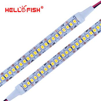 2835 taśma LED SMD 1200 chip LED 12V LED elastyczna płytka PCB listwa oświetleniowa LED taśma LED 240 led m biały ciepły biały tanie i dobre opinie Taśmy ROHS Hello Fish 5000 Ostry 12 v 6500 Smd2835 240 pcs m Salon Zawsze na 8 64 w m 3528-240-N-D