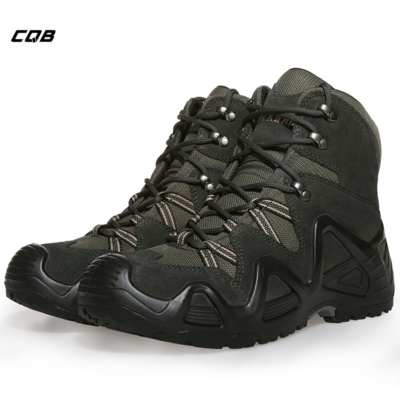 CQB Outdoor Sports Tactical Mountain Climbing Boot Men Wear-resisting Shoes Non-slip Large Size Trekking Shoes for Hiking 361 men s anti slippery outdoor sports hiking shoes damping wear resisting comfortable mountain sneakers 571543325q1w55