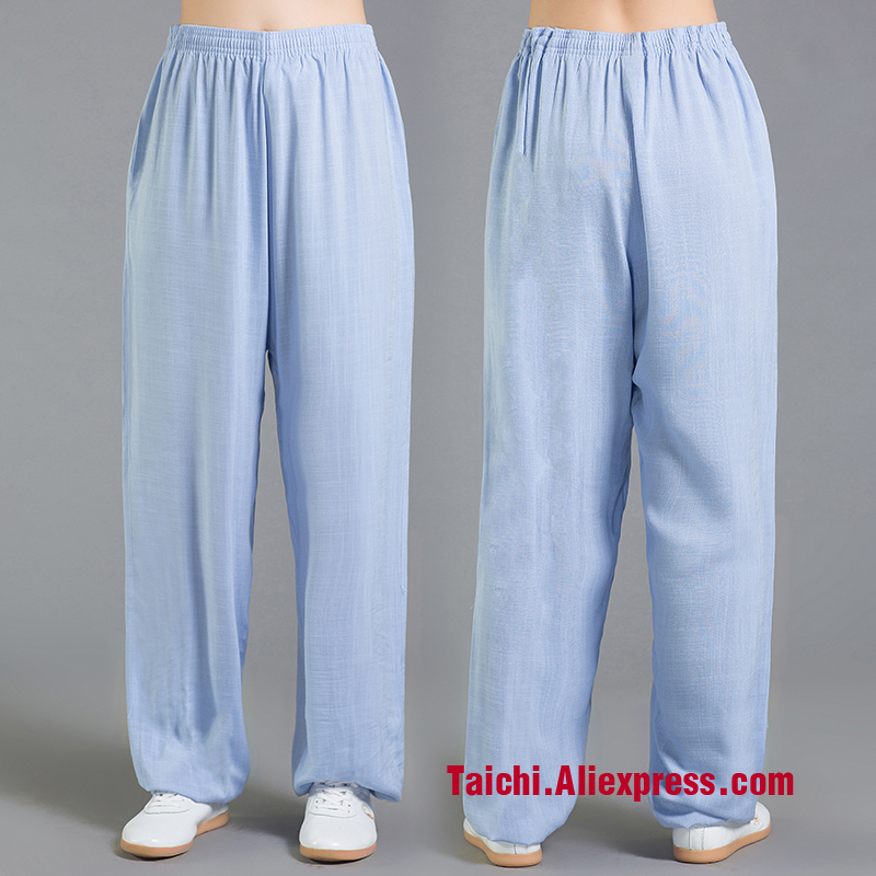 Linen and cotten Tai Chi Pants  Wu Shu Pants  flax Kungfu  Trousers Yoga  Pants  9 color S-XXXL