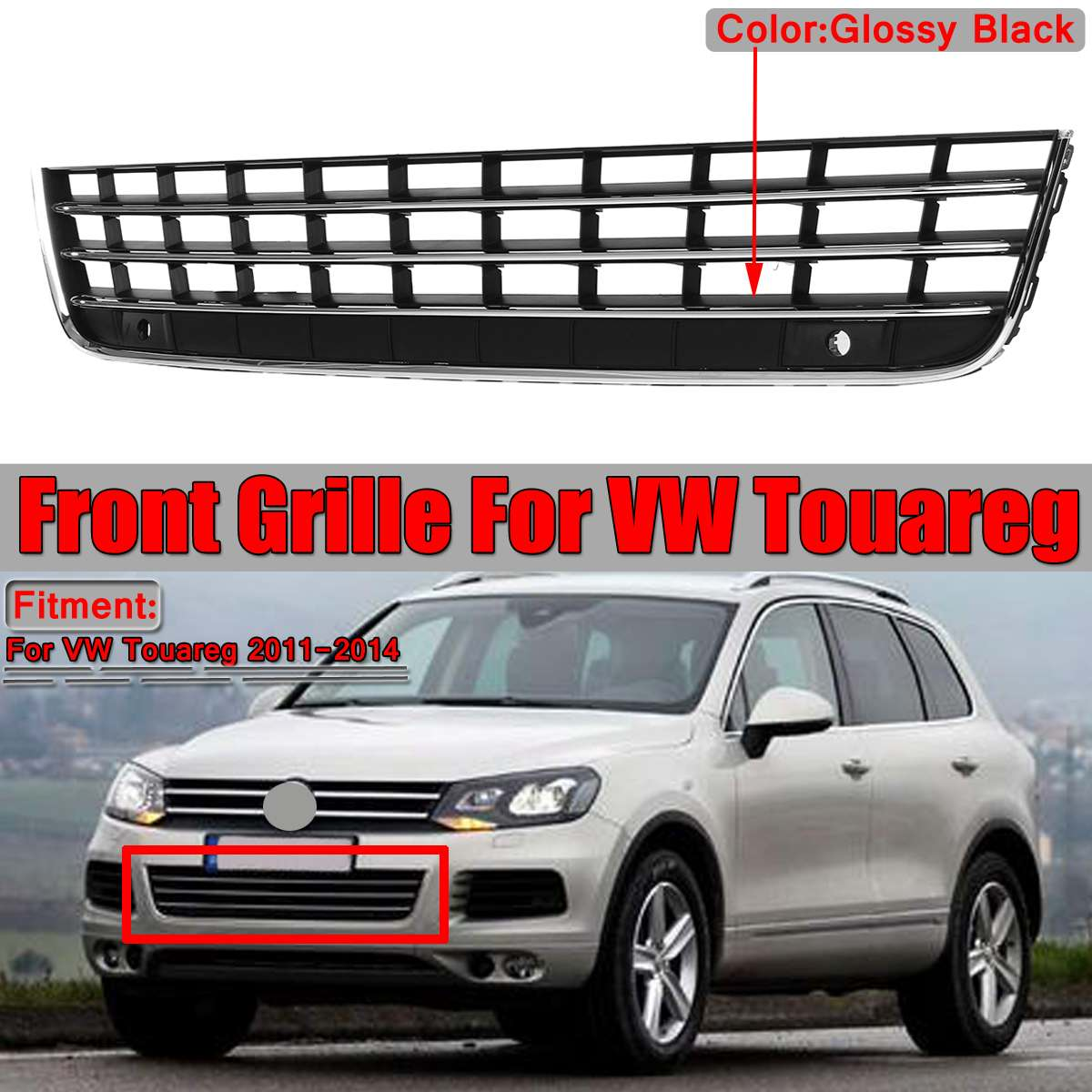VW Volkswagen Touareg 2011-2015 Front Bumper LEFT Guide Bracket 7P6807049