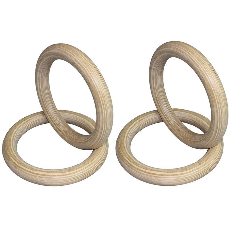 ✔  Портативный 28/32 мм Деревянные деревянные кольца комплект Crossfit Гимнастика Кольца Тренажерный За ✔