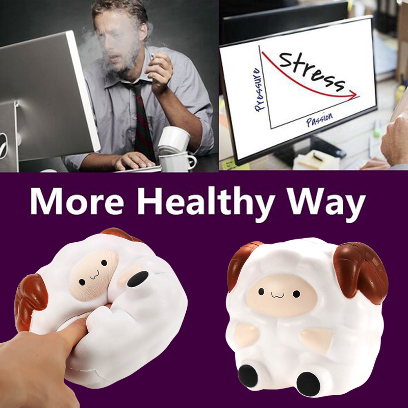 2018 New Cute Squishy Sheep Cream Scented Slow Rising Stress Relief Kids Squeeze Toy