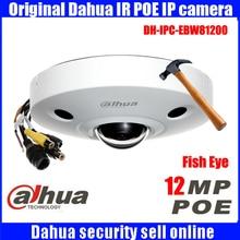 Original dahua DH-IPC-EBW81200 12MP Ultra HD Metal waterproof shell IR Network Fisheye Camera IP67 IPC-EBW81200