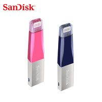 Sandisk iXPAND Dual OTG USB3.0 Flash Drive 128GB 64GB pen drive 32GB 16GB For iPhone/iPad/iPod pendrive lightning Stick