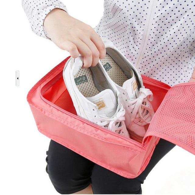 2019 водонепроницаемая обувь сумка для хранения дорожная сумка Портативный обувь Организатор сортировки Чехол Zip-Lock домашнего хранения