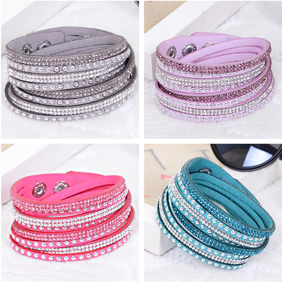 shining type multi color blue red pink purple leather pave small ...