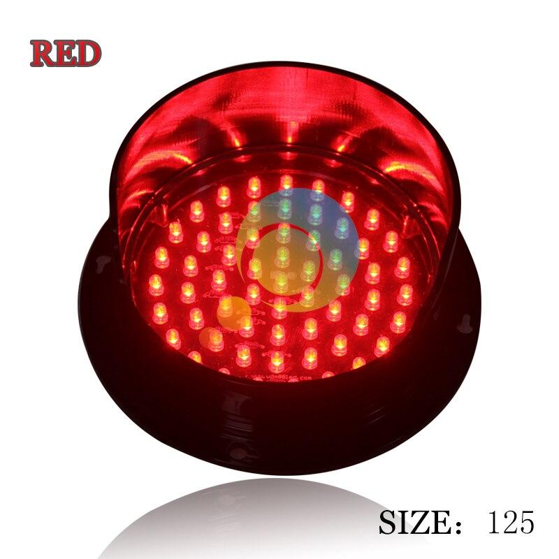 New Mould Mini Traffic Light For School Teaching Customized 125mm Traffic Lamp Cheap LED Traffic Signal Lamp