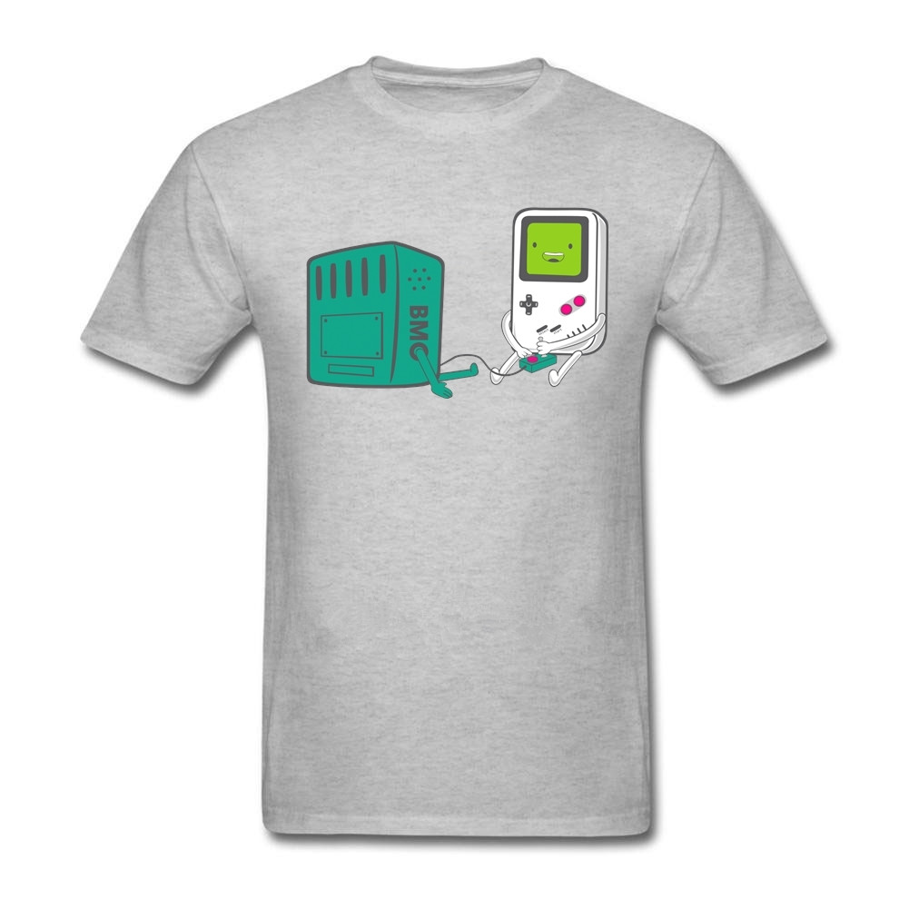 Hip Hop Novelty T Shirts MenS Bmo Gaming Adventure Time T Shirts Summer Latest Print T-shirt Cotton tee