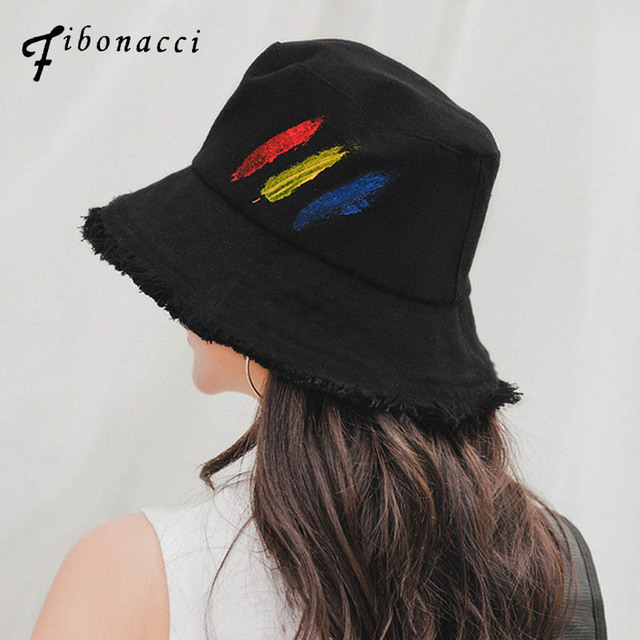 ba24b0a420a87 Fibonacci 2019 New Graffiti Bucket Hat Men Women Fisherman Panama Spring Summer  Caps Flat Can Be Folded Sun Hats