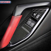 Carbon Fiber Interior Car Window Control Switch panel Decor Frame For nissan GTR R35 LHD RHD Accessories Car Styling Sticker