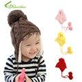 Chapéu do bebê 5 cores New Arrival crianças malha chapéus de inverno manter aquecido Cap Crochet meninas meninos Beanie frete grátis Drop Shipping