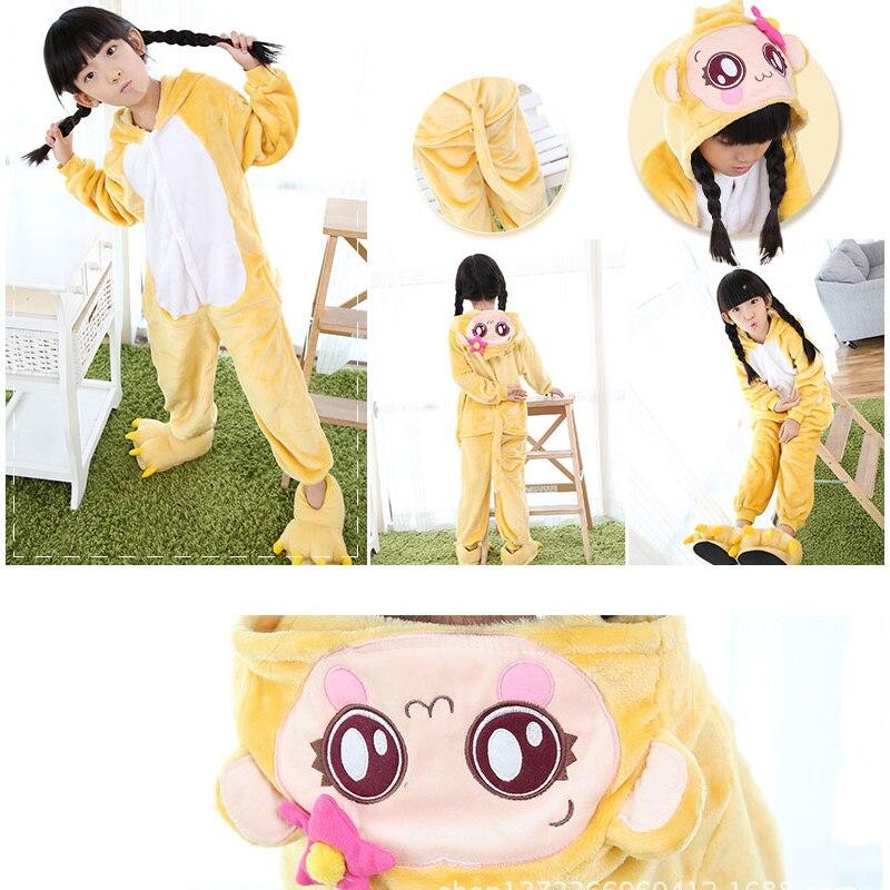 Vánoční dívky Chlapci Malá opice Dětská pyžama Flanelový steh Živé pyžamo Kid Pyžamo sety Onesy Dětské oblečení