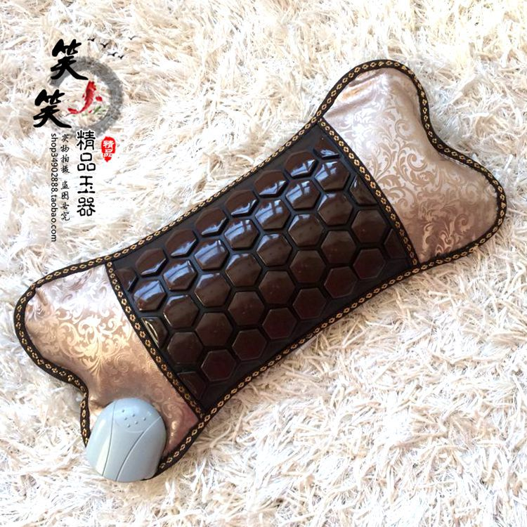 2016 Best Selling Health Care Heating Jade Neck Massager Cushion NEW Heating Cushion Jade Cushion Electric Heated Free Shipping 2016 new style popular best selling natural jade