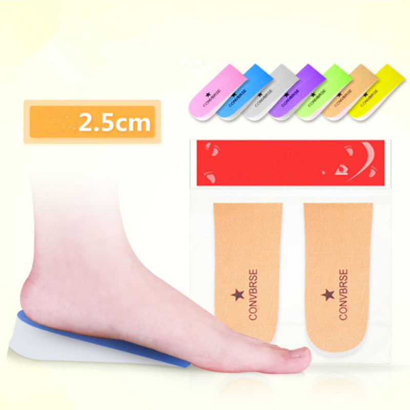 1 Pair Heel Pad High Heels Upset Arch Support Insoles Three Floors Blowing Increase Insoles